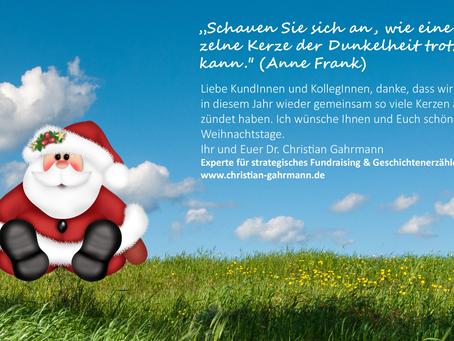 Frohe Weihnachten & Danke!