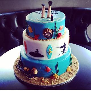 water sports cake