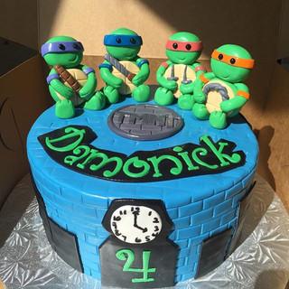 TMNT ninja turtles cake