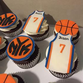 knicks basketball jersey cupcakes
