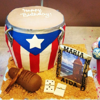 puerto rico themed cake 3d conga