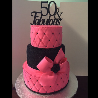 50 and fabulous birthday cake