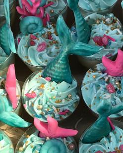 mermaid themed cheesecake dessert shooter