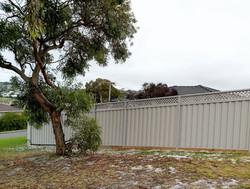 Raked Fence with Lattice