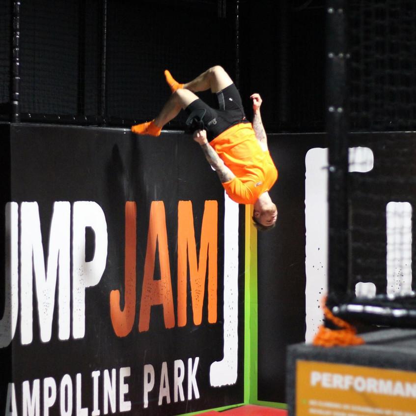 jake 2 walk wall Jump Jam Bridgend