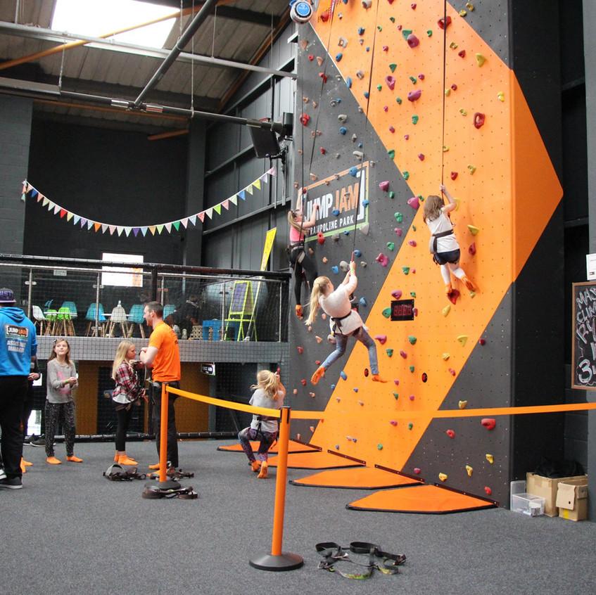 Climbing Wall 2 Jump Jam Bridgend