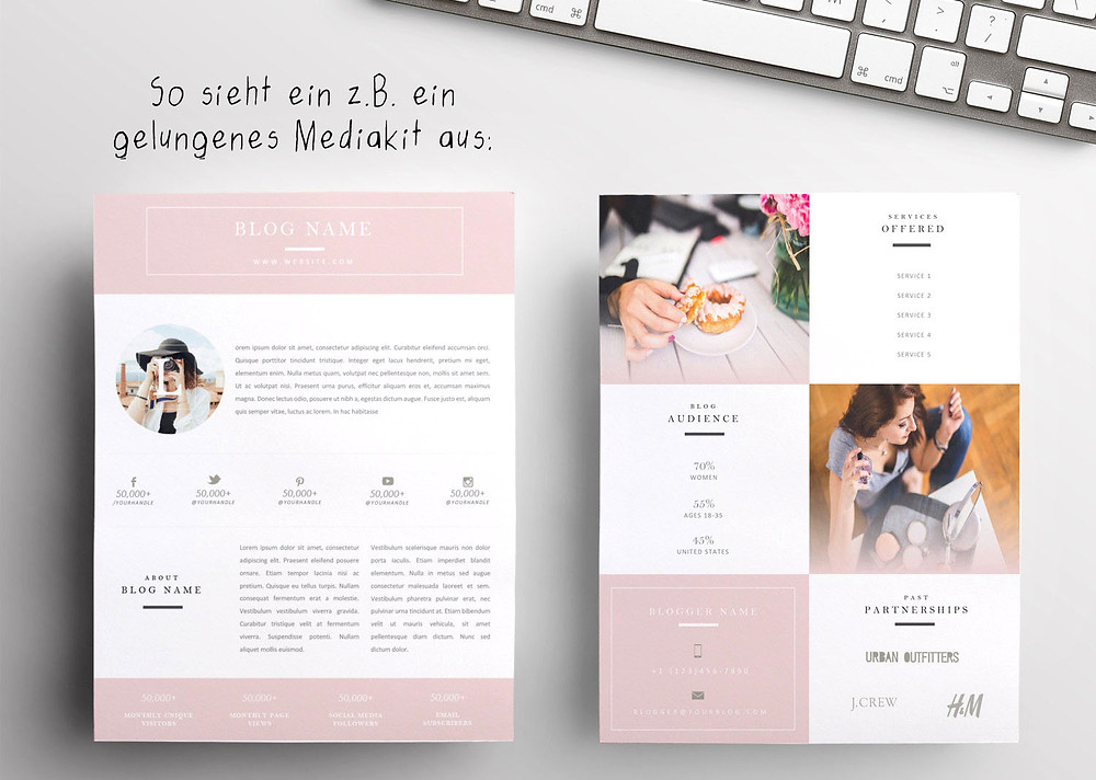Gelungenes Mediakit, Blid von Frisch Verliebt; Andrea Alton, PR-Coach - PR selber machen