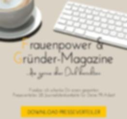 Frauenpower- und Gründerverteiler; Kommunikaionskonzept für Gründer