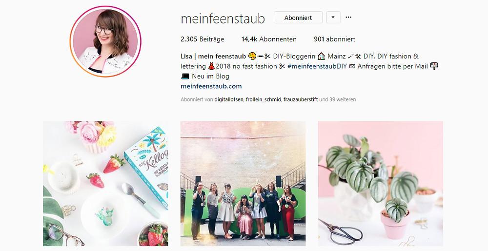 Mein Feenstaub - Lisas schöner Instagram-Account