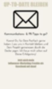 Newsletter-Anmeldung; Kommunikationskonzepte und Kommunikationsstratgien für Öffenhtlichkeitsarbeit