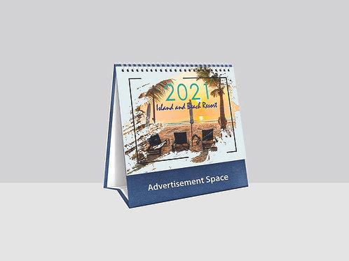 TC8762 Island and Beach Resort Desk Calendar