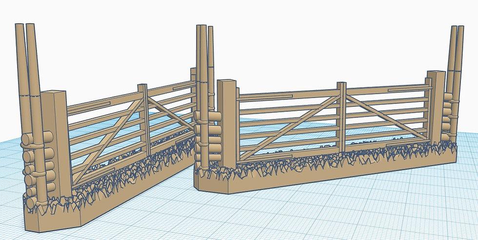 28mm Scale Gärdsgård (Pole fence) Large Gate