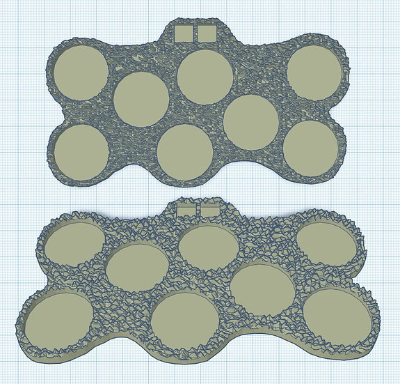 8 Slot Irregular Sabot Base with Holes for Micro Dice (1p)