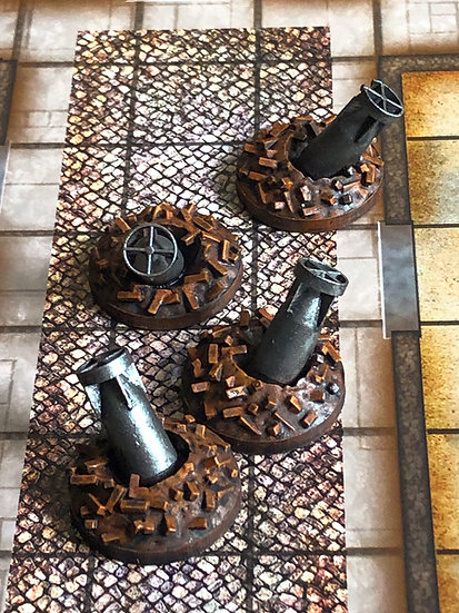 28mm Unexploded Bomb Markers (4)