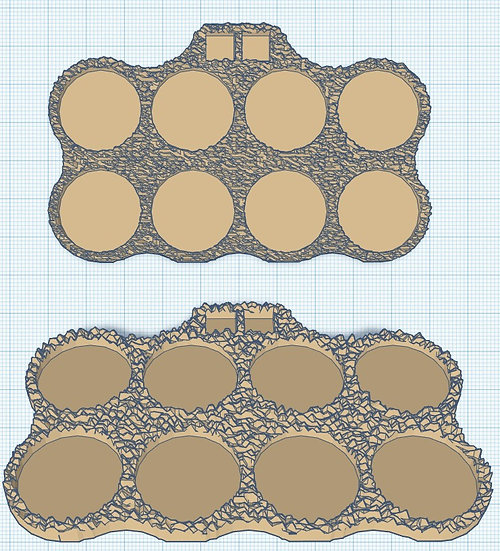 8 Slot Regular Sabot Base with Holes for Micro Dice (1p)
