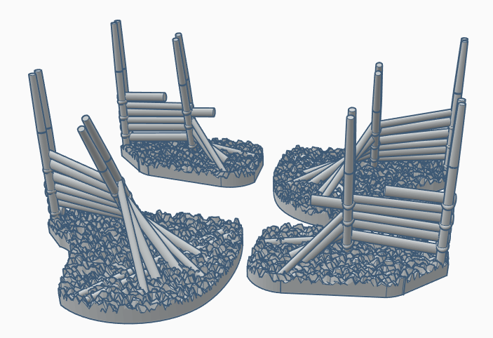 28mm Scale Gärdsgård (Pole fence) with Gap