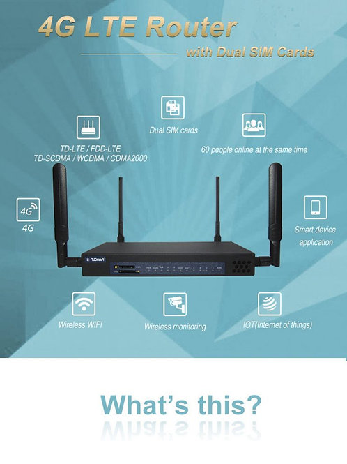 TODAAIR 4G Dual SIM Gigabit Router