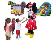 """Mickey et Minnie en Peluches géantes """"dit Mascotte"""" chez Jumpy's Party"""
