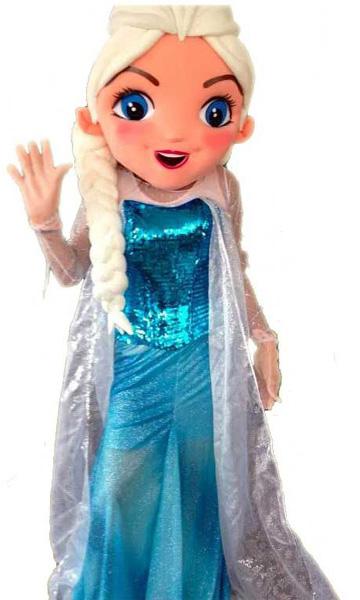 Mascotte Princesse des neiges