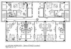 Plan amenagement étages des suites