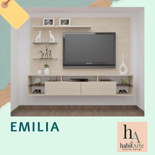 Centro de entretenimiento Emilia 1.90 cm  x 1.80 cm