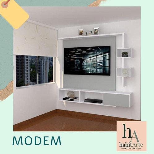 Centro de Entretenimiento Modem 1,90 cm x 180 cm
