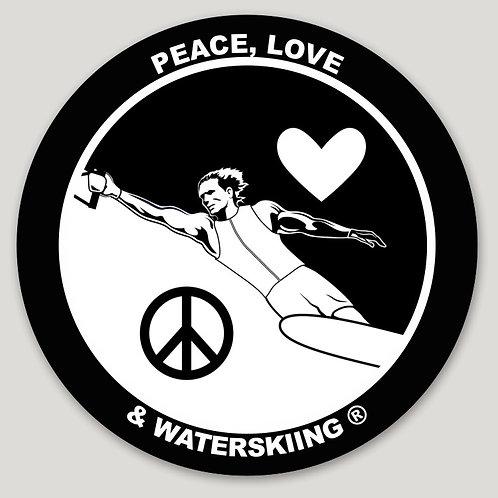 "PLW Yin Yang Round Sticker - 3"""