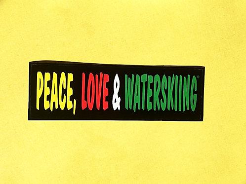 PLW Rasta Bumper Sticker