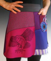 Short Skirt with Owl
