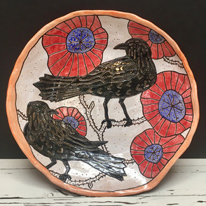 Raven and Poppy Plate