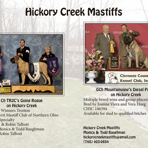 Hickory Creek Mastiffs Publications