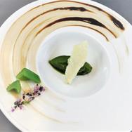 Basil Sorbet, Sugar Pickle Celery