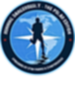 Running Dangerously Arctic - Badge Logo.