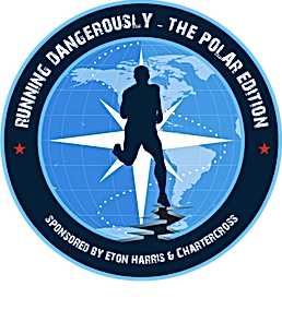 Running Dangerously Arctic - Badge Logo.