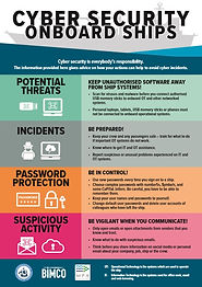 Cyber Security Onboard Ships BIMCO poster