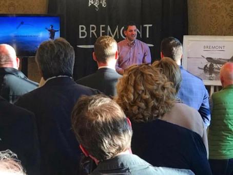 Bremont Ambassador Jordan speaking at a Banks Lyons event in Lancaster