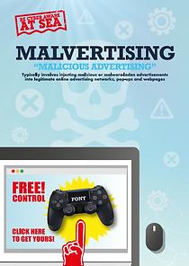 Malvertising Poster BeCyberAwareAtSea.pn