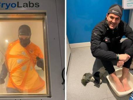 Jordan Wylie completes world-first marathon after North Pole run cancelled