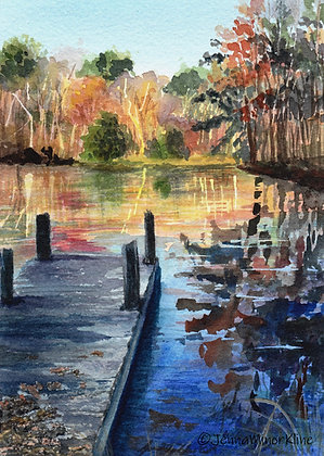 Autumn Reflections on Kenbrook Pond