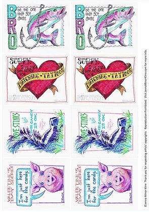 Valentine Doodles - Printable Download