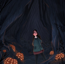 Pumpkins in the Forest