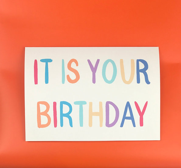 Brief Sentiment | It Is Your Birthday