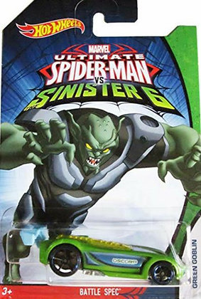 Hot Wheels Marvel Ultimate Spiderman - Battle Spec Green Goblin