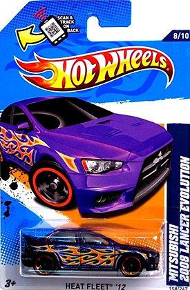 Hot Wheels Heat Fleet - Mitsubishi 2008 Lancer Evolution