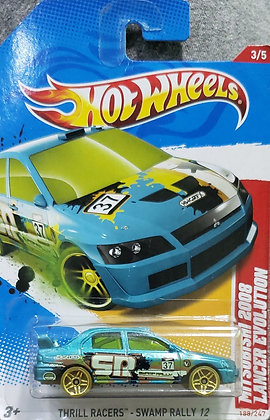 Hot Wheels Thrill Racers - Mitsubishi 2008 Lancer Evolution