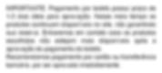 IMPORTANTE:Pagamentopor boleto possui prazo de 1-3 dias úteis para aprovação. Nesse meio tempo os produtos continuam disponíveis no site, não garantindo sua reserva. Entraremos em contato caso os produtos escolhidosnão estejammais disponíveis após a aprovação do pagamento do boleto. Recomendamos pagamentopor cartão ou transferência bancária, por seraprovadoimediatamente.