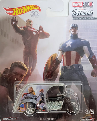 Hot Wheels Pop Culture - Marvel Studios 3D-livery