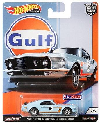 Hot Wheels Car Culture - Gulf '69 Ford Mustang Boss 302