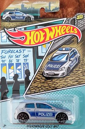 Hot Wheels Policia - Volkswagen Golf MK7