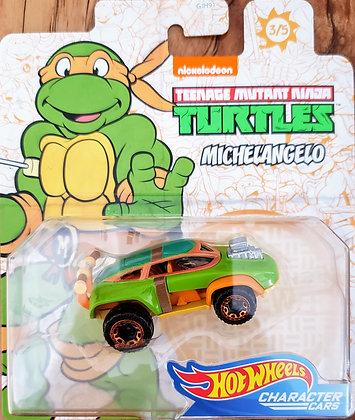 Hot Wheels Character Cars - Tartarugas Ninjas Michelangelo